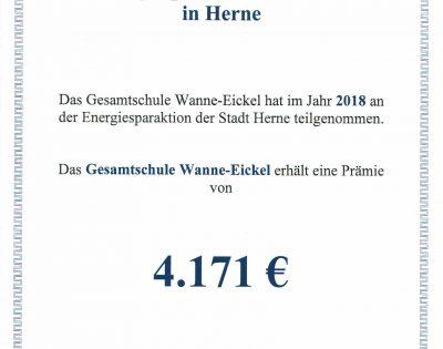 Gesamtschule Wanne-Eickel Energiespar-Praemie