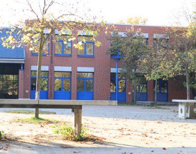 Gesamtschule Wanne-Eickel Herbst kleiner Schulhof