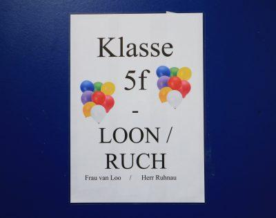 Gesamtschule Wanne-Eickel Klassentür Jg. 5