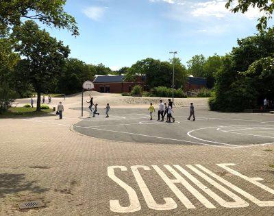 Gesamtschule Wanne-Eickel Schulhof Basketball