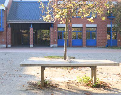 Gesamtschule Wanne-Eickel Tischtennis kleiner Schulhof