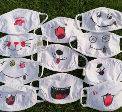 Gesamtschule Wanne-Eickel viele bunte Masken
